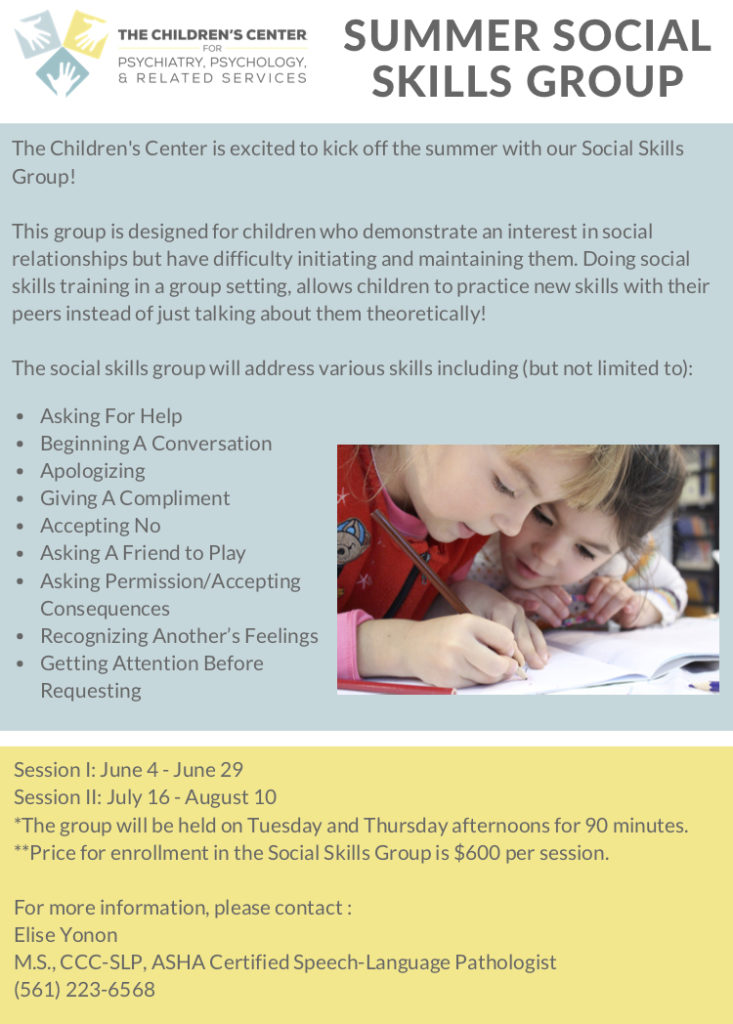 Summer Social Skills Group