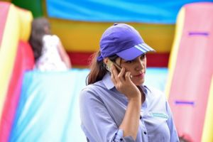 woman talking on a cell phone